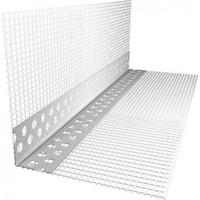 Уголок перфорированный пластиковый с сеткой 2,5м